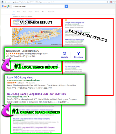 Our Local SEO Search Rankings