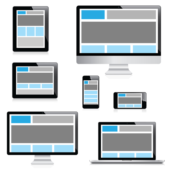 Responsive Website Design Wire Frame Spread Out