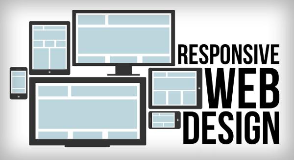 Responsive Website Design Blue Wire Frame